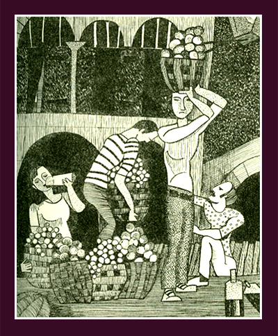 "Carol-Lou Burnham, ""Fruit Sellers,"""