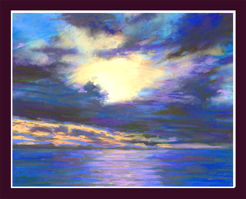 "Carol Smith Dearborn, ""Sunset Over the Ocean,"""