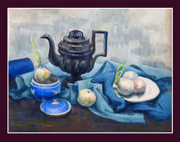 "Ann Burnham Smith, ""Still Life with Black Teapot,"" c 1941"